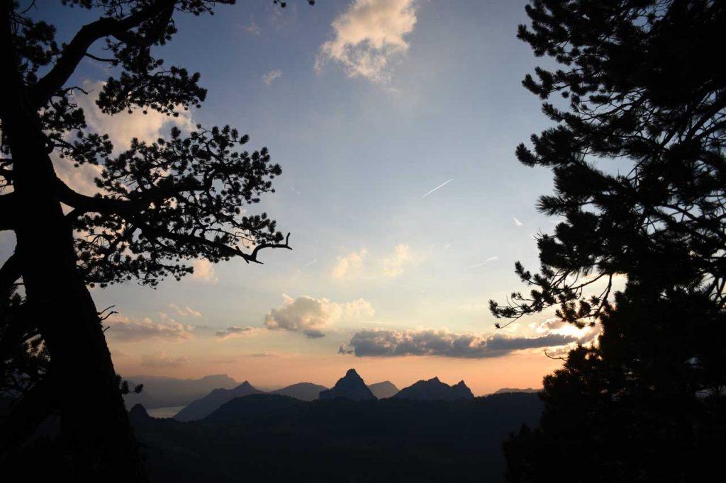 Sonnenuntergang Roggenstock Mythen