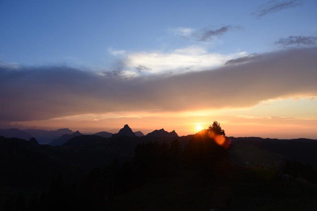 Sonnenuntergang Mythen