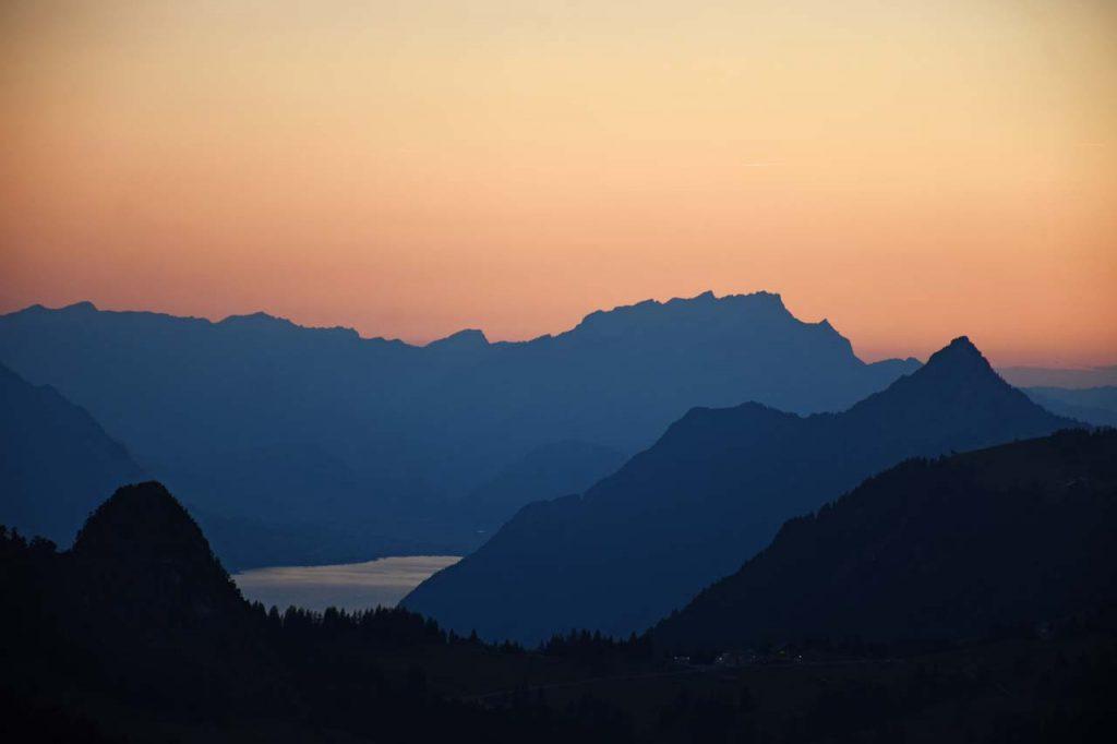 Pilatus Sonnenuntergang Ibergeregg Rigi
