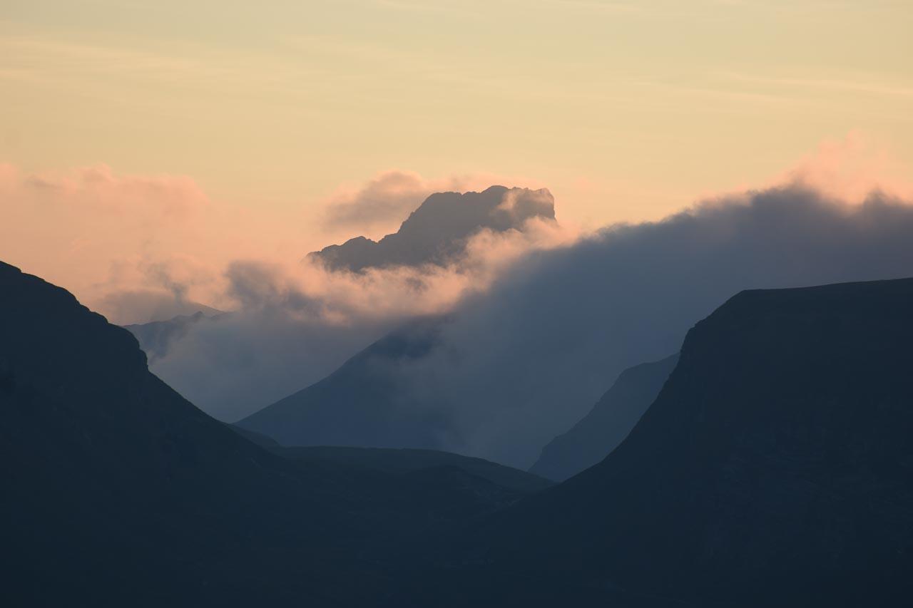 Hoch Ybrig Sonnenaufgang Nebelmeer