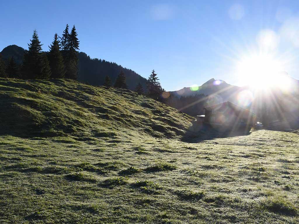 Berggasthaus Adlerhorst Herbst Saisonende