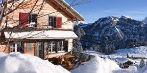 Bergbeizli Adlerhorst im Winter Hoch-Ybrig Schnee