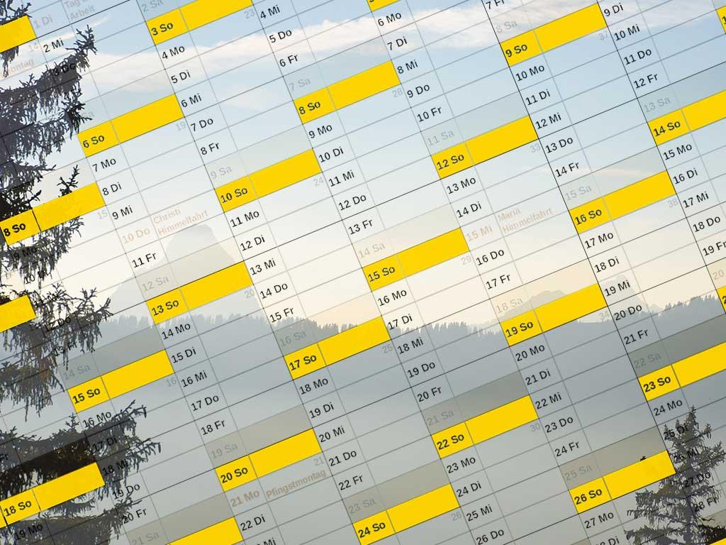 Adlerhorst Online Booking Kalender Mythen