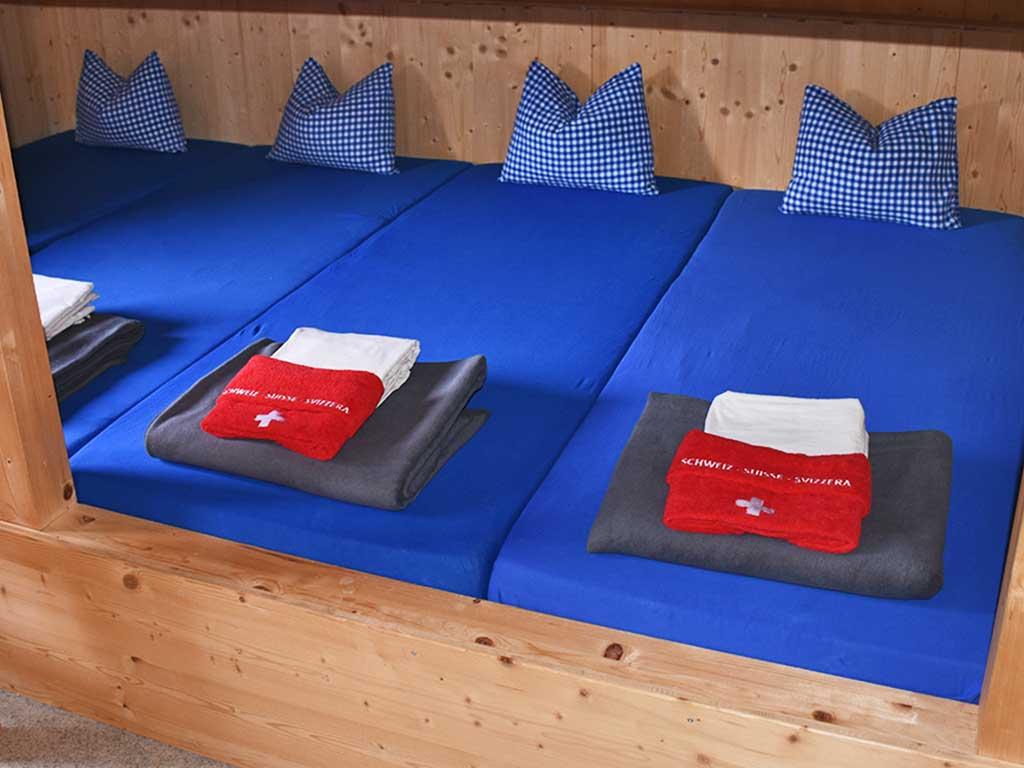 Mehrbettzimmer Berggasthaus Adlerhorst Berghütte Übernachtung