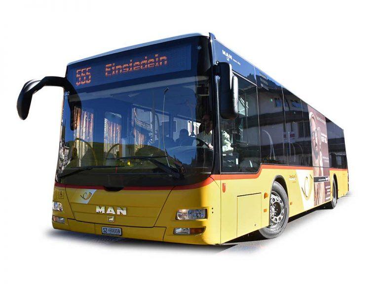 Postauto Bus Linie 555 Einsiedeln Oberiberg MAN Adlerhorst