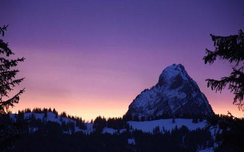 Mythen Hoch-Ybrig Sonnenuntergang Adlerhorst