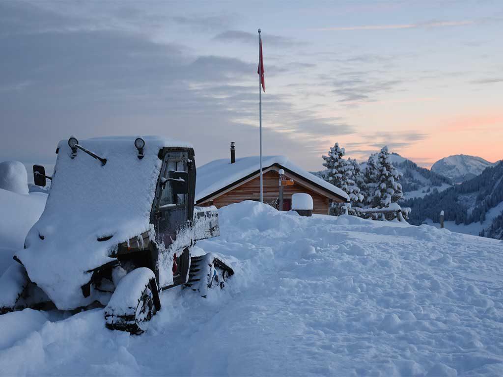 Adlerhorst Oberiberg Winter Schnee Polaris Ranger
