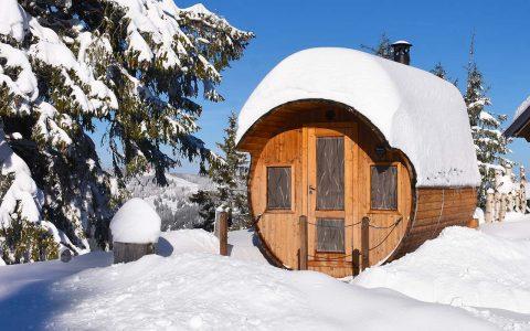 Alpen-Fass-Sauna Adlerhorst Oberiberg Hoch-Ybrig