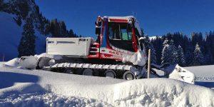 Hoch-Ybrig Pistenbulli Schnee Winter Zugang Adlerhorst