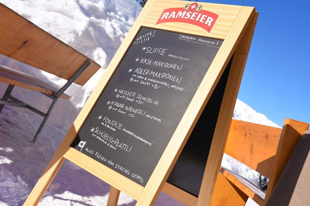 Menu Adlerhorst im Winter