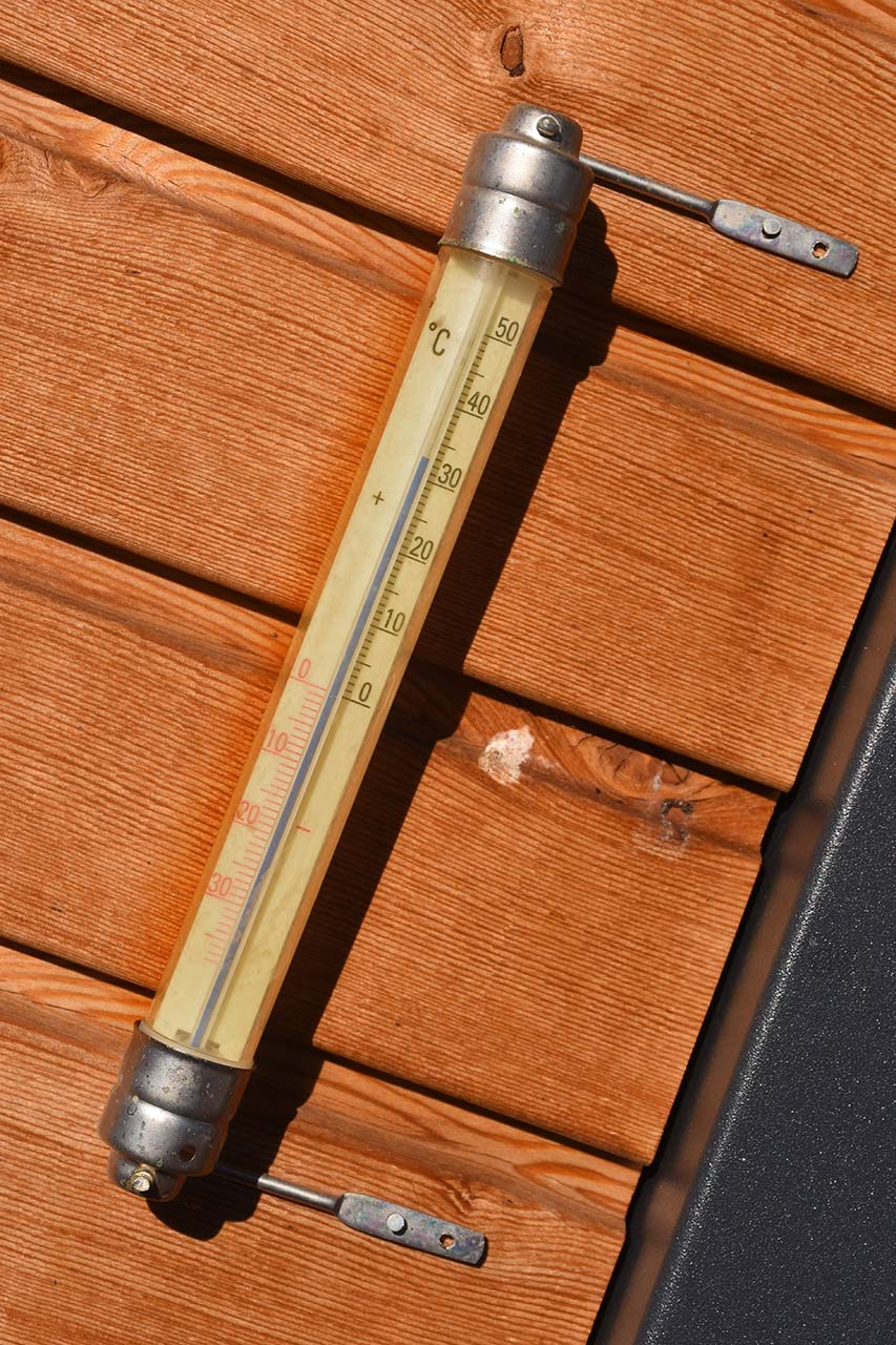 Temperatur Adlerhorst Terrasse Sonne