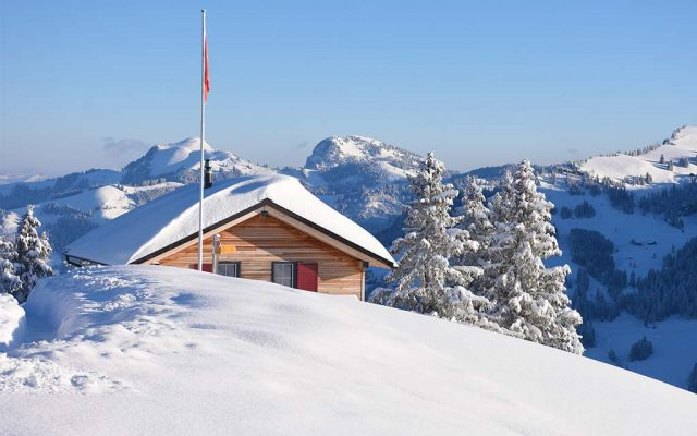 Berggasthaus Adlerhorst Winter aussen