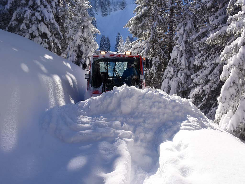 Pistenbully Winterwanderweg Fuederegg Adlerhorst René