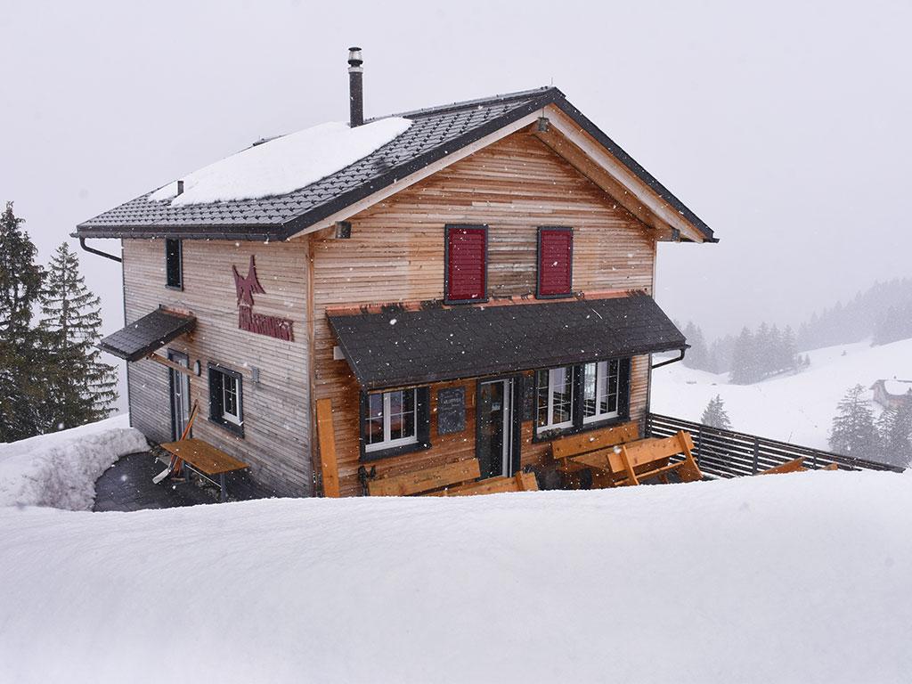 Adlerhorst aussen Schnee