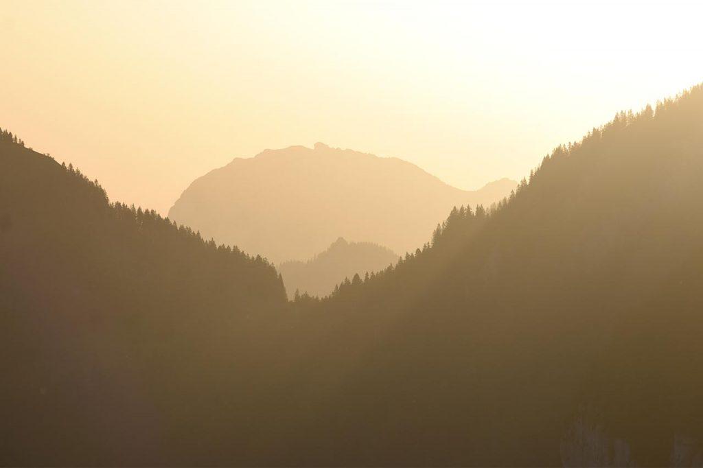 Adlerhorst Hoch-Ybrig Sonnenaufgang Berge
