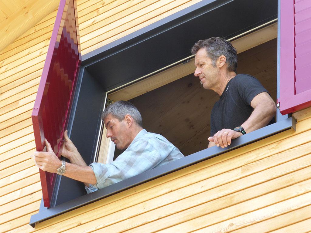 Adlerhorst Neubau 2013 Fenster