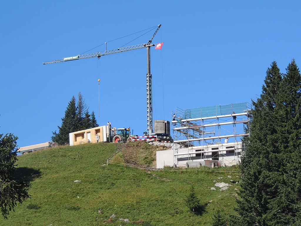 Adlerhorst Neubau 2013 mit Kran