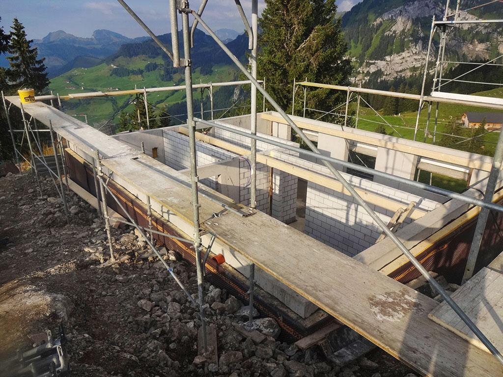 Neubau Aushub Adlerhorst Oberiberg