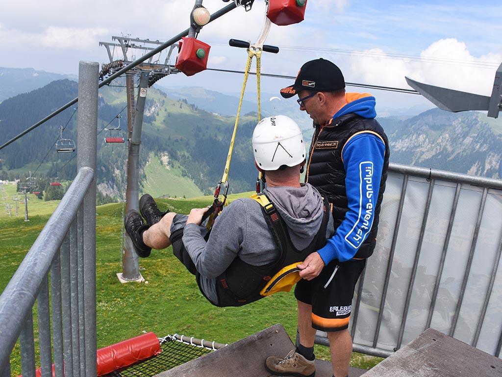 Hoch Ybrig Adventure Sternensauser Impuls Event Seilrutsche