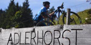 Iron Bike Race Einsiedeln Adlerhorst Schild