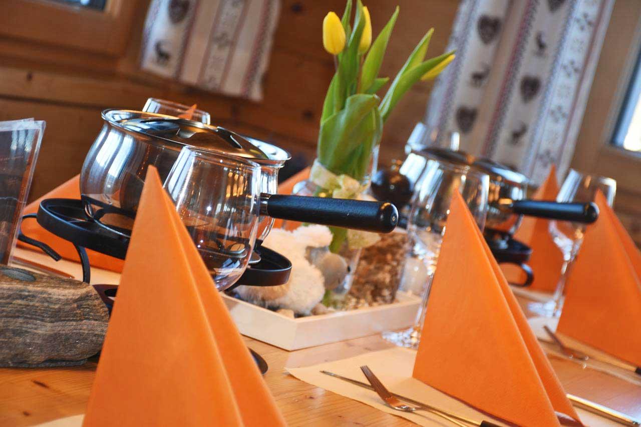 Adlerhorst Fondue Abendessen