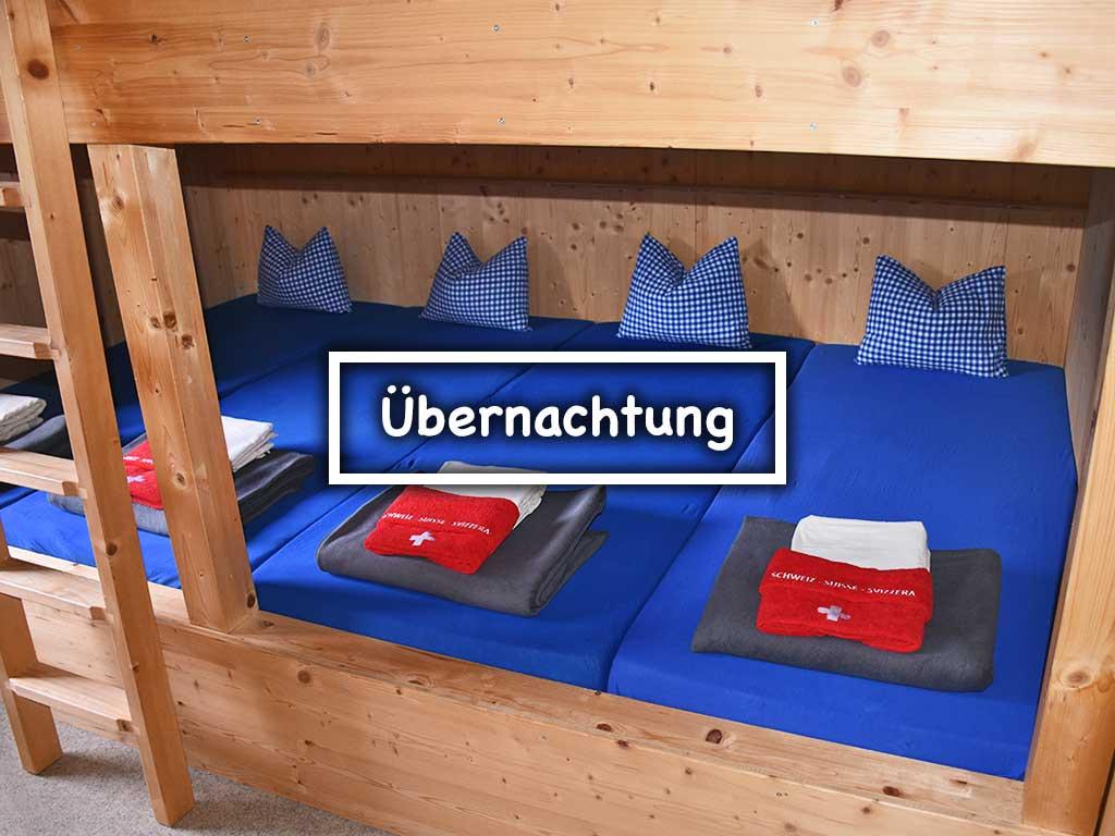 Übernachtung Mehrbettzimmer Berggasthaus Adlerhorst