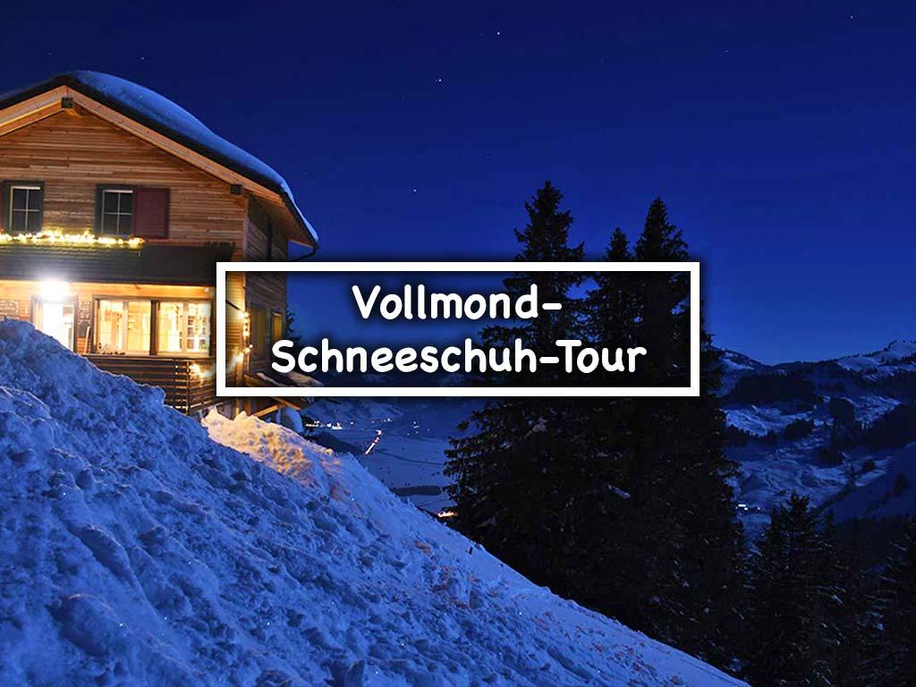 Berggasthaus Adlerhorst Schneeschuhtour Vollmond