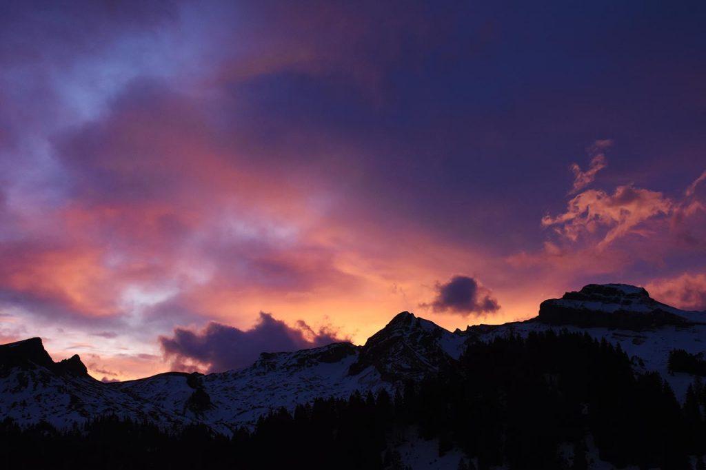 Sonnenuntergang Druesberg Hoch-Ybrig