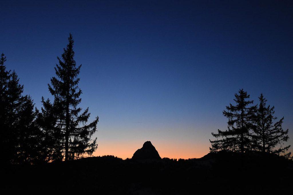Mythen Sonnenuntergang Adlerhorst Oberiberg