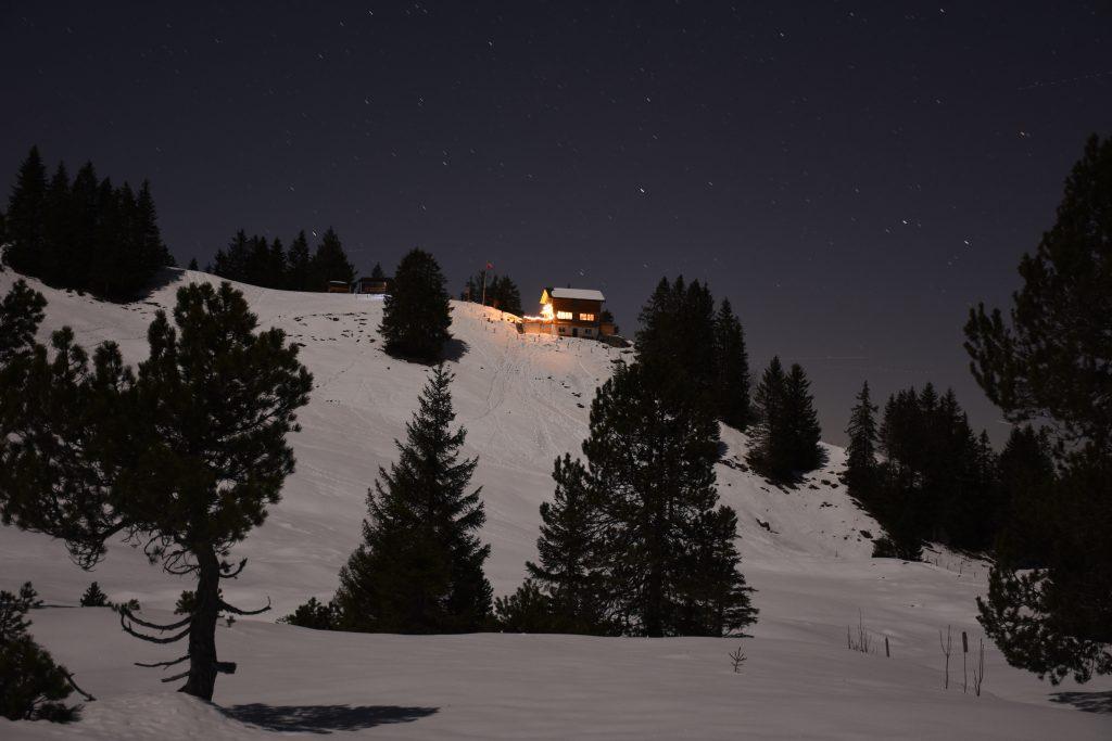 Adlerhorst Oberiberg Nachtaufnahme