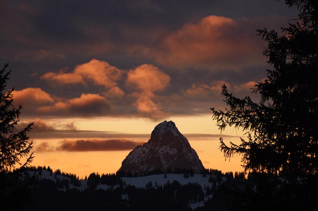 Mythen Sonnenuntergang