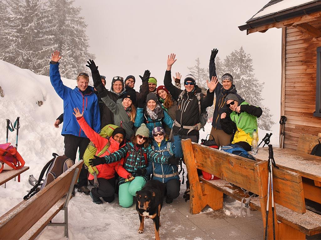 Gruppenfoto Gruppenanlass Winter Adlerhorst