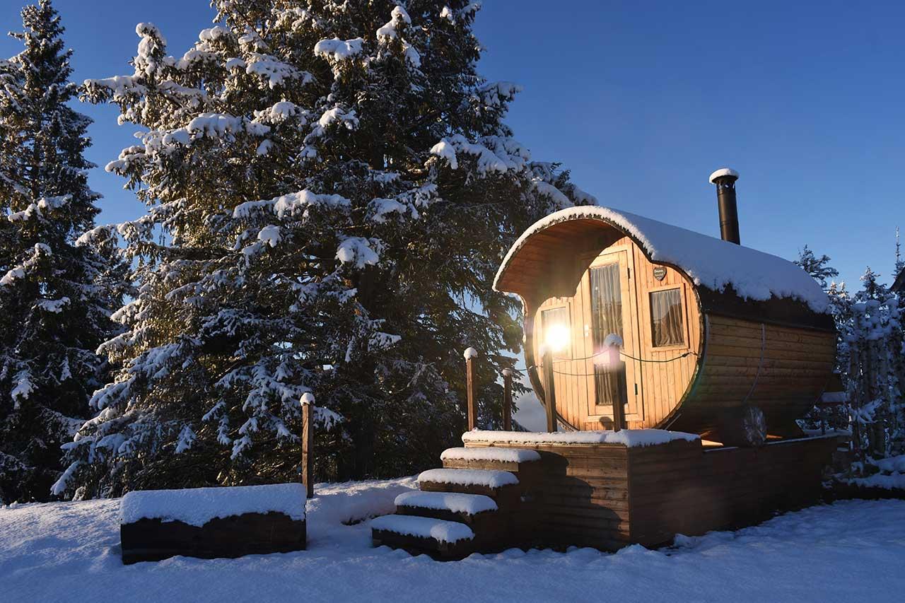 Sauna-Adlerhorst Alpen-Fass-Sauna Wellness