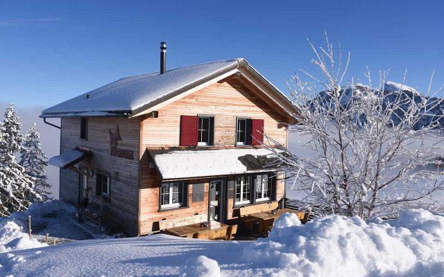 Winter Adlerhorst Bergeizli Schnee Hoch-Ybrig
