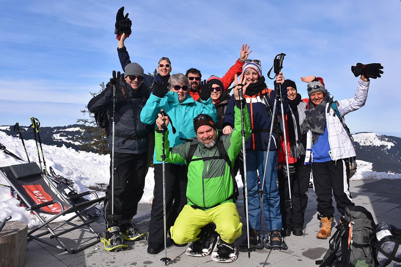 Team-Foto Gruppen-Event Adlerhorst Oberiberg