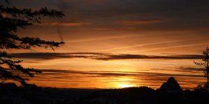 Sonnenuntergang Mythen Adlerhorst Ybrig