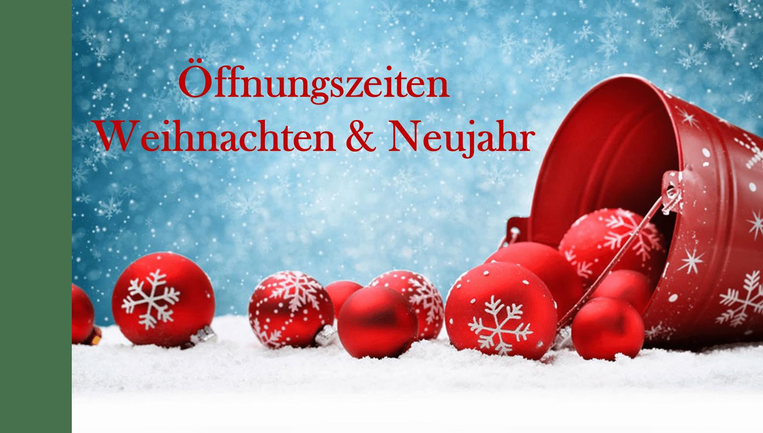 Weihnachten öffnungszeiten